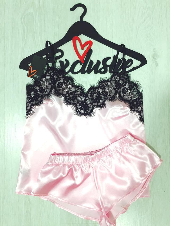Розовый комплект для дома шорты и майка