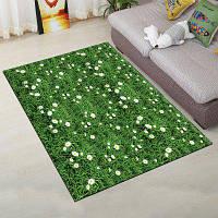 Домашний коврик для пола Простой зеленый дизайн лужайки Прямоугольный дверной коврик 40x60см