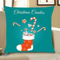 Рождественский Носок Конфеты Печать Постельное Белье Наволочки W18 дюймов * L18 дюймов