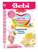 Молочна каша для полуденка Bebi пшеничне Печиво з грушами, 200 г