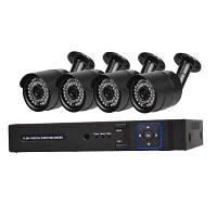 4-Канальная система камеры безопасности с 4CH 1080N AHD видеорегистратором 4 x 1.0MP погодоустойчивая камера с ночным видением Конвертер путешествий