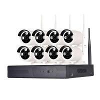 8-Канальная 960P беспроводная камера безопасности 1 x Wi-Fi NVR 8 x 1.3MP Wifi IP-камера с ночным видением u0421u0428u0410