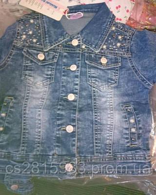 Детская джинсовая курточка на девочек