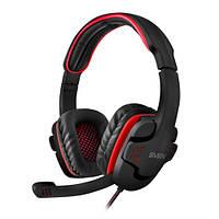 Наушники игровые SVEN AP-G855MV black-red наушники с микрофоном (кожаные) Джек 2*3,5мм 3pin