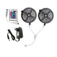 Brelong 10м 2835SMD RGB 600 водонепроницаемая светодиодная лента+контроллер+кабельный разъем+адаптер 3A EС / США 100-240В Конвертер путешествий ЕС