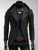 Серое кашемировое пальто мужское