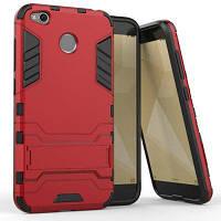 Защитный защитный чехол с двойным слоем защиты Защитный чехол с подставкой для Xiaomi Redmi 4X Красный