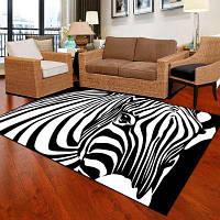 Спальня Пол Матовый Уникальный Популярный Zebra Head Pattern Мягкий Antiskid Washable Mat 40x60см