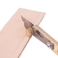Нож для порезки кожи на полосы нож для кожи с разметкой