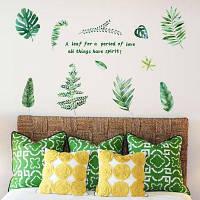 Краткие листья ПВХ Мебель стены стикер Зелёный