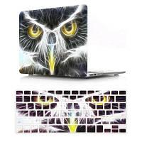 Компьютерная оболочка для ноутбука с клавиатурой для MacBook Retina 15,4 дюйма-3D Eagle Head Чёрный