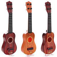Гитара 294, 32см, струны 4шт, медиатор, 3 цвета, в кульке, 9,5-32-9,5см