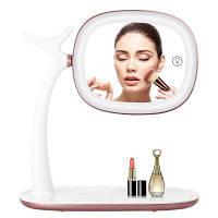 Светодиодный смарт-сенсорный экран Портативный косметический зеркальный макияж Беспроводная зарядка не поддерживается