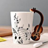 HESSION Музыкальный элемент Керамическая кружка / Чашка кофе стиль 1