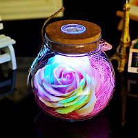 Светодиодная лампа роза RGB подарок на день рождения u0441u0442u0438u043bu044c 1