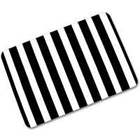 Творческий резиновый коврик для пола Простой стиль Печатный ковер 1PC Чёрный