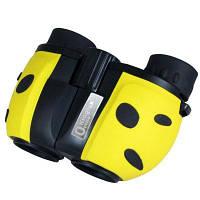 Kinglux Optics 8x22мм бинокль для наблюдения за птицами игр на открытом воздухе в раскраске Божьей коровки Идеальный подарок для детей Жёлтый