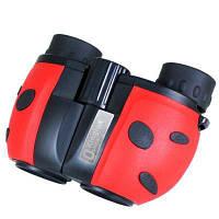 Kinglux Optics 8x22мм бинокль для наблюдения за птицами игр на открытом воздухе с дизайном Божьей коровки Идеальный подарок для детей Красный
