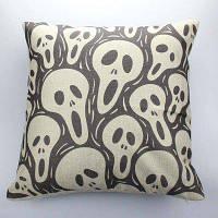 DIHE Screamer Призрачный диван-подушка Главная Декоративная льняная подушка Цветной