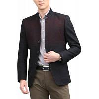Мода зима повседневная с длинным рукавом куртка шерстяное пальто XL