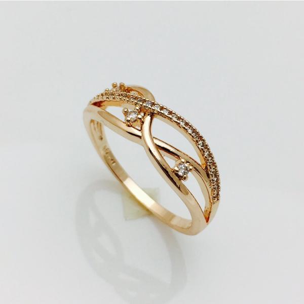 Кольцо Капельки позолота 18К , размер  19