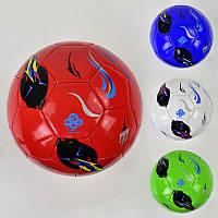 Мяч футбольный F 21961 (60) 4 вида, 350 грамм, материал мягкий PU
