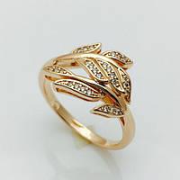 Кольцо Богатые листья позолота 18К , размер 17