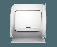 Выключатель 1-кл.c подсветкой в сборе Erste Classic 9201-01N,W