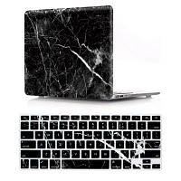 Компьютерная оболочка для ноутбука Чехол для клавиатуры MacBook Air 11,6-дюймовый мрамор-черный Чёрный