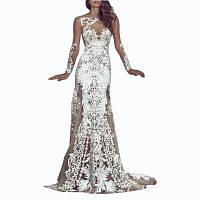 Сексуальные Кружева Выдалбливают Вечернее Платье XL