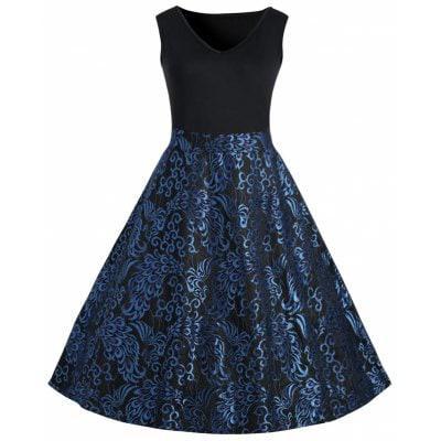 Плюс Размер Пейсли Миди 1950-х годов Vintage Dress XL - ➊ТопШоп ➠ Товары из Китая с бесплатной доставкой в Украину! в Киеве
