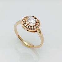 Кольцо Романтическое позолота 18К , размер 16, 17, 18, 19, 20, 21, 22