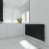 TERMA Горизонтальный радиатор TRIGA 560*1080, Black, фото 1