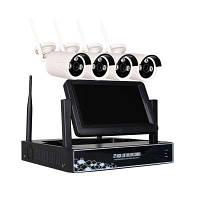 8-Канальный 960P беспроводной Nvr комплект 7-дюймовый Lcd Wifi Nvr 8 x 1.3MP Wifi Ip камера с ночным видением Конвертер путешествий ЕС