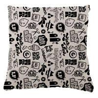 Черные белые Cartoon печати Домашние украшения Подушки Чехлы 40х60 см