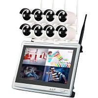 8-Канальный 960P беспроводной комплект Nvr 12,5-дюймовый ЖК Wifi Nvr 8 x 1,3-мегапиксельная камера WiFi с ночным видением США