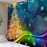 Цветные Водонепроницаемые Печатные Настенные Фотообои С Рождественской Елкой ширина59дюймов*длина51дюйм