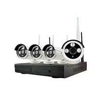 4-канальная 720P беспроводная система камеры безопасности 1 × Wifi Nvr 4 × 1,0MP Wifi Ip камера с ночным видением. США