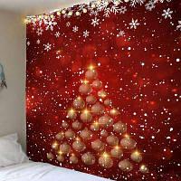 Рождественская Елка Блесна Печатных Водонепроницаемый Настенный Гобелен ширина59дюймов*длина51дюйм