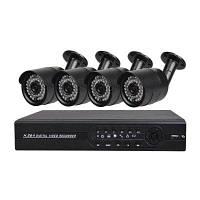4-Канальная система камеры безопасности с 4CH 1080N AHD видеорегистратором 4 x 2.0MP погодоустойчивая камера ночнго видения Конвертер путешествий ЕС