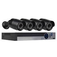 4-Канальная система камеры безопасности с 4CH 1080N AHD видеорегистратором 4 x 2.0MP атмосферостойкая камера с ночным видением Конвертер путешествий