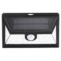 Utorch 24 Светодиода солнечная лампа с датчиком человеческого тела для наружного освещения Чёрный