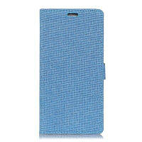 Wkae Vintage Classic Denim Texture Кожаный чехол для Samsung Galaxy J7 Plus Синий