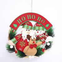 Фестиваль домашнего орнамента Рождественский венок Вешалка украшения Красный
