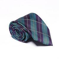Новые модные мужские аксессуары Бизнес-галстук Стильная решетка Полосатый плед синий зеленый
