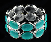 Браслет с кошачьим глазом голубой от Студии  www.LadyStyle.Biz