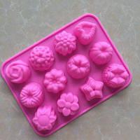 Цветы Растения Силиконовая лепешка для молодняка 1PC Розовый