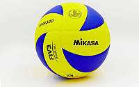 Мяч волейбольный MIKASA PU, №5, 5 сл., клееный (MVA-330), фото 1