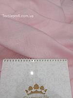 Льняная легкая ткань, нежно - розового цвета, фото 1