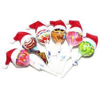 Рождественская Декоративная Шапка Для Леденцов И Винных Бутылок 10шт красный и белый